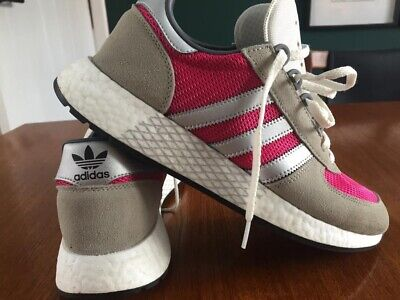 Mens Adidas Marathon Tech Trainers Grey & Pink Size 8