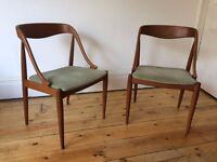 Johannes Andersen Danish Teak Dining Chairs Moreddi 1960s