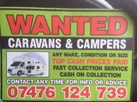 Wanted moterhomes caravans campervans damp damaged top prices paid cash in hand or transferr