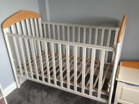 Mamas and Papas white wooden cot