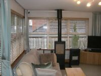 10 Timberlux Oak Coloured Blinds for sale. Used 100% immaculate Collection Only