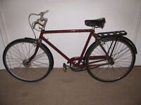 "Classic/Vintage/Retro Triumph 21"" Single Speed Commuter/Town Bike (BRAND NEW tyres)"