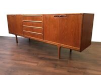 Retro Teak McIntosh Sideboard Vintage Mid Century Modern Unit Dresser Great Storage