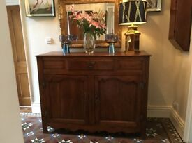Sideboard Authentic Two Cupboard French Antique Oak Sideboard