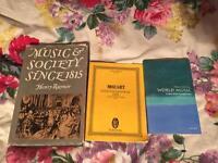 Music educational books