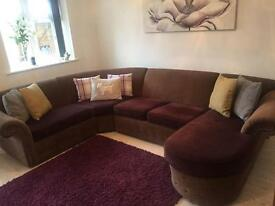 Quality large corner sofa with chaise