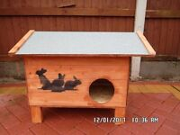 small hut for cat or rabbit