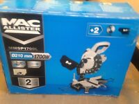 MAC ALLISTER 1700W 230V 210MM COMPOUND MITRE SAW MMSP1700L