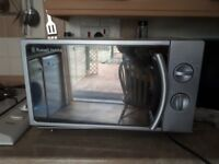 Silver Russell Hobs Microwave