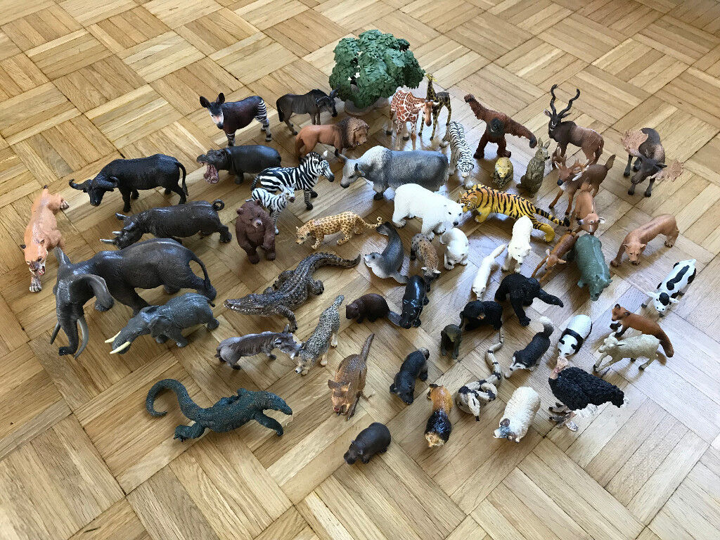 Schleich animal figures collection (50+ pieces)
