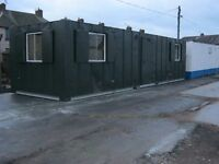 32ft x 10ft Anti Vandal Portable Cabin Open Plan OUTSTANDING CONDITION +IN STOCK+ shipping contain
