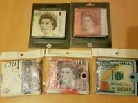 Novelty canvas wallets