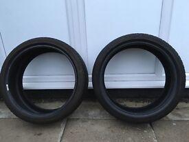 2 x Dunlop SportMaxx 205/40/18 tyres. Part worn.