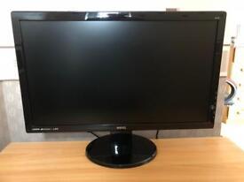 BenQ GL2450HM LED TN 24 inch Widescreen Multimedia Monitor, Glossy Black