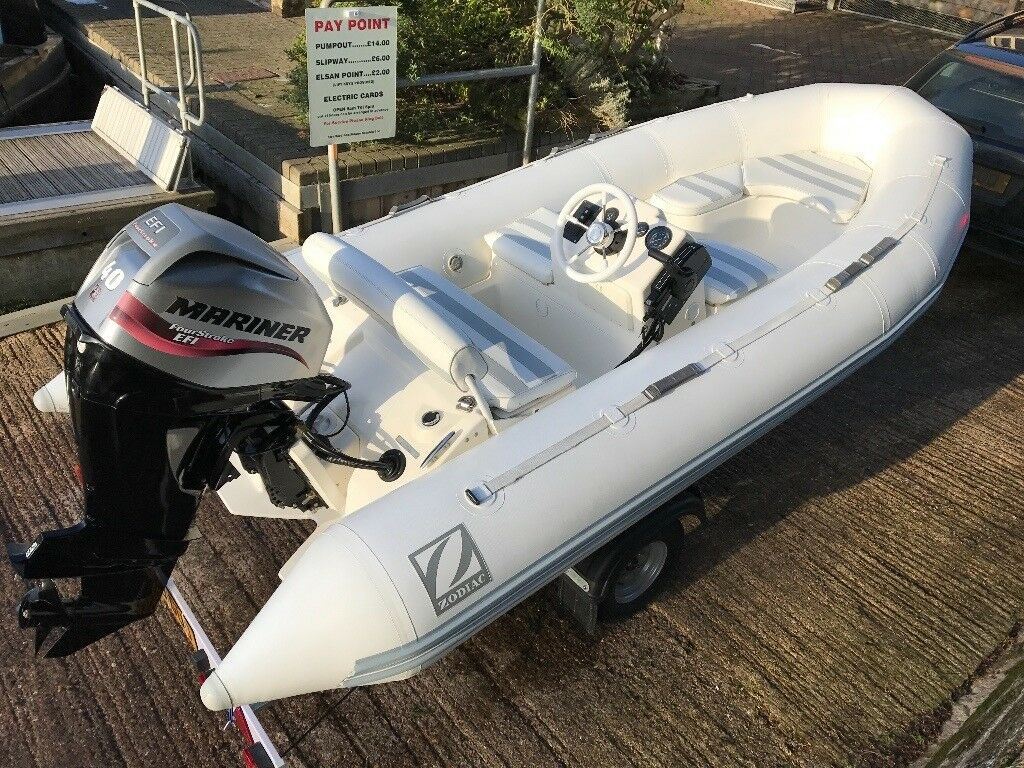 Zodiac Yachtline 420 Deluxe Rigid inflatable boat RIB 40HP EFI outboard  brand new trailer + cover | in Stratford-upon-Avon, Warwickshire | Gumtree