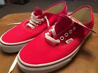 Brand New Vans - Red - Size 9