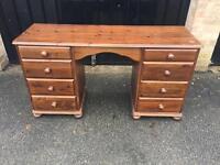 Solid pine desk / dressing table