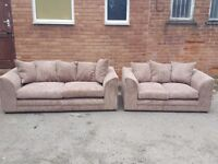 Really nice 1 month old beige cord sofa suite.3 and 2 seater sofas.clean and tidy.can deliver