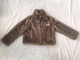 Beautiful grey fur coat size 10-12