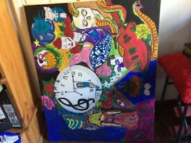 Large paintings on canvas from £80