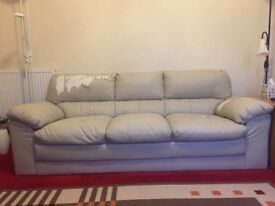 Free 3 seater cream leather sofa. Unfortunately peeling off but really comfortable.