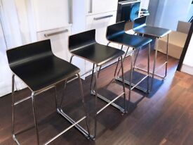 x4 IKEA Sebastian Bar Stools Chairs Black