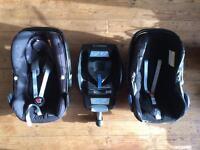 Maxi-Cosi Pebble & CabrioFix Infant Baby Car Seat + EasyBase 2 & EasyFix ISOFIX seat base (DELIVERY)