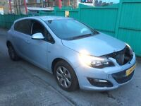 2014 VAUXHALL ASTRA DESIGN LATEST SHAPE GREY DAMAGED SALVAGE LOW MILEAGE BARGAIN UNRECORDED