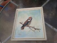bird painting done by local artist in 1974