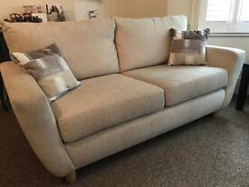 Cream white two seater sofa nearly new!