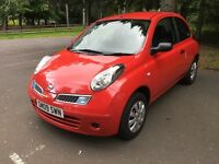 Nissan Micra 1.2 16v Visia **Only 1 owner and only 27,000 miles**