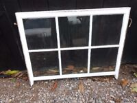 Selection of reclaimed timber windows