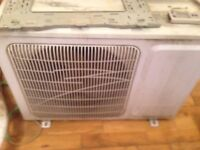 Air conditioning unit hot and cold