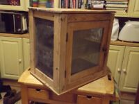 Antique pine kitchen or meat cupboard