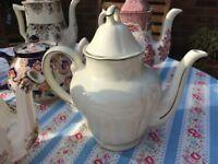 Vintage tea pots (afternoon tea or wedding?)