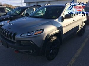 2015 Jeep Cherokee Trailhawk V6 4X4 HEATED/VENTED SEATS NAV!!!
