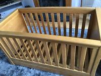 Mamas and Papas Ocean Cot Bed (Solid Oak)