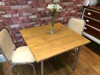 RUSTIC RECLAIMED WOOD TABLE AND 2 CHAIRS - DISMANTLED FOR DELIVERY - CAN DELIVER