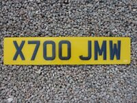 Number Plate X700 JMW