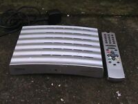 Freeview set top box with remote control