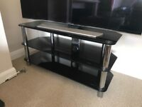 Black Glass TV Table - 3 surfaces to place all your devices perfectly!