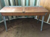 Industrial style double school-type desk
