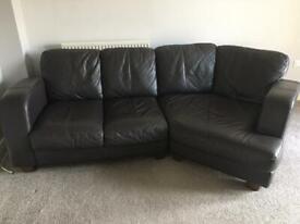 Leather Corner Sofa & Armchair