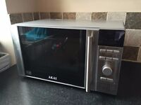 Stainless Steel Digital Microwave. Hardly Used, As Good as New