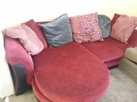 DFS LEFT OR RIGHT HANDED CORNER SOFA INCLUDES DELIVERY.