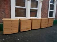 Solid beech wood 5 drawer chests(Very heavy)