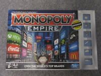 Monopoly board game. Empire edition (with different tokens). As new.