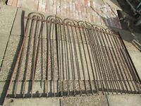 OLD DECORATIVE IRON FENCING