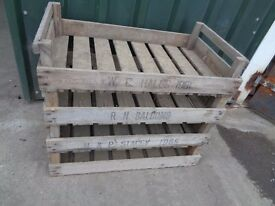 25 Vintage Wooden Rustic Potato Chitting Trays Crates Boxes Storage Shabby Chic