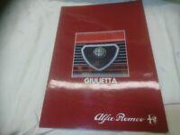 Alfa Romeo Guilietta sales brochure